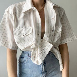 Vintage Tops - Vintage Western Summer Tunic Button Up